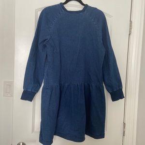 Zara baby doll denim dress, size Large